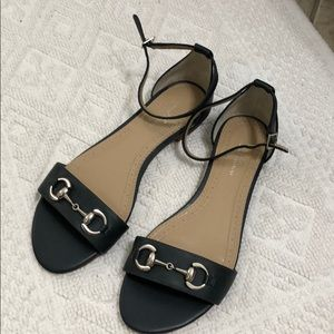 Navy sandals by brooks brothers